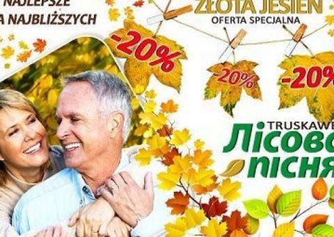 Sanatorium Leśna Pieśń z ofertą Złota Jesień - 20 procent zniżki